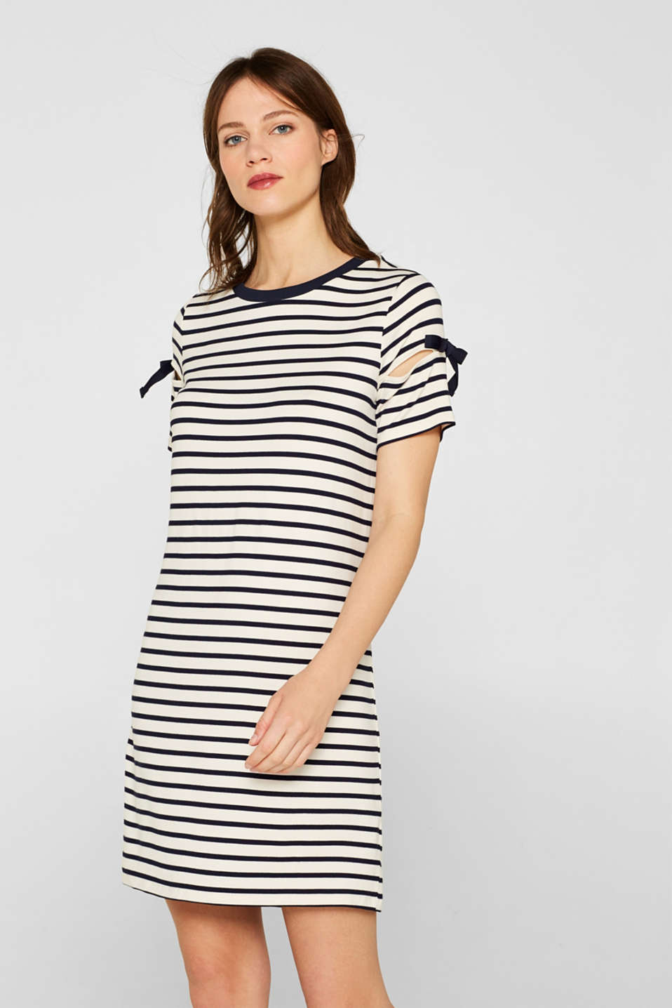 Jersey dress with knotted details, NAVY, detail image number 6