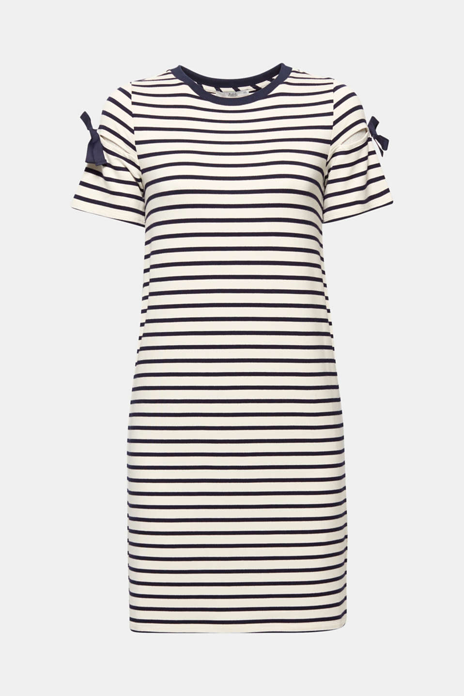 Jersey dress with knotted details, NAVY, detail image number 8