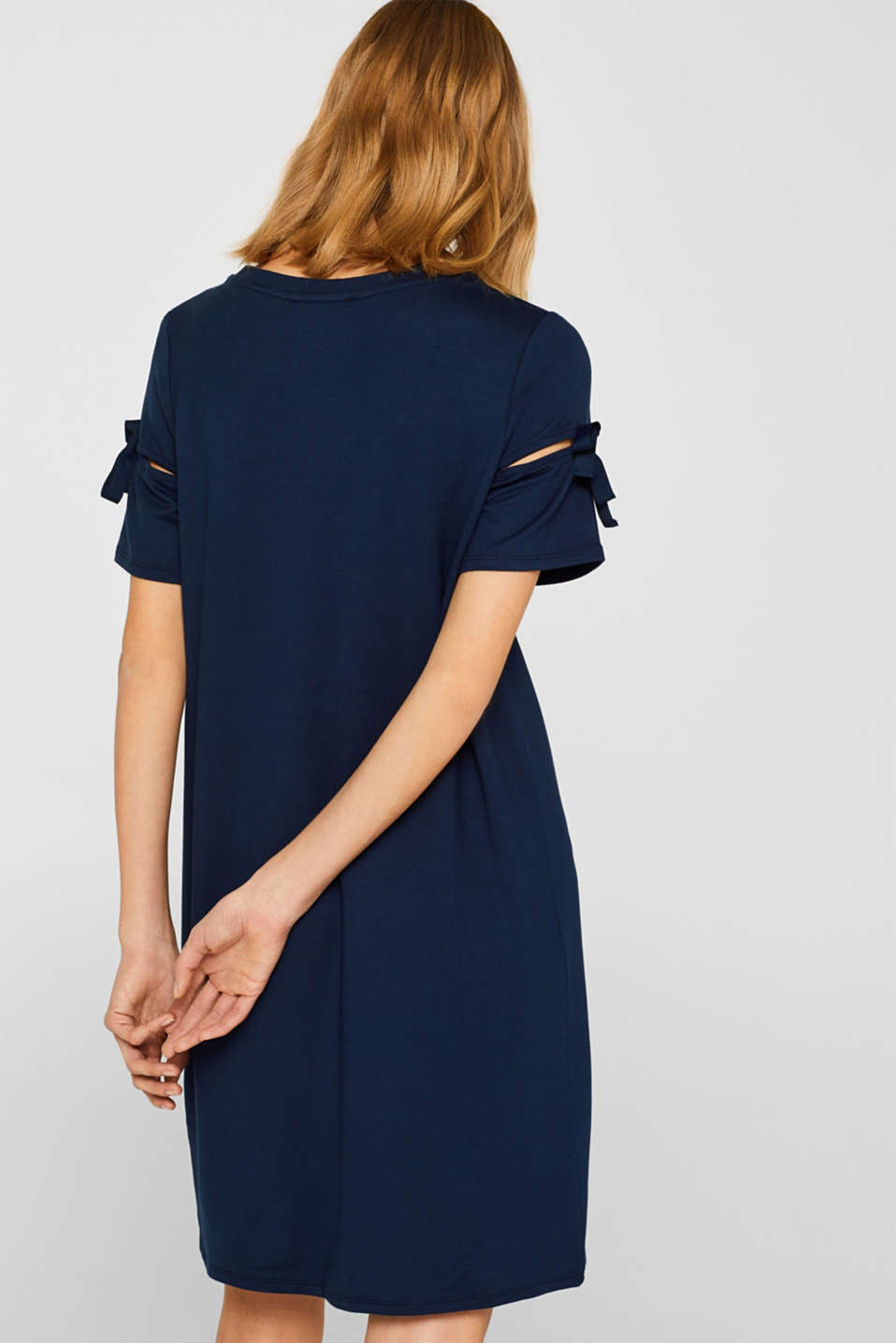 Jersey dress with knotted details, NAVY 2, detail image number 2