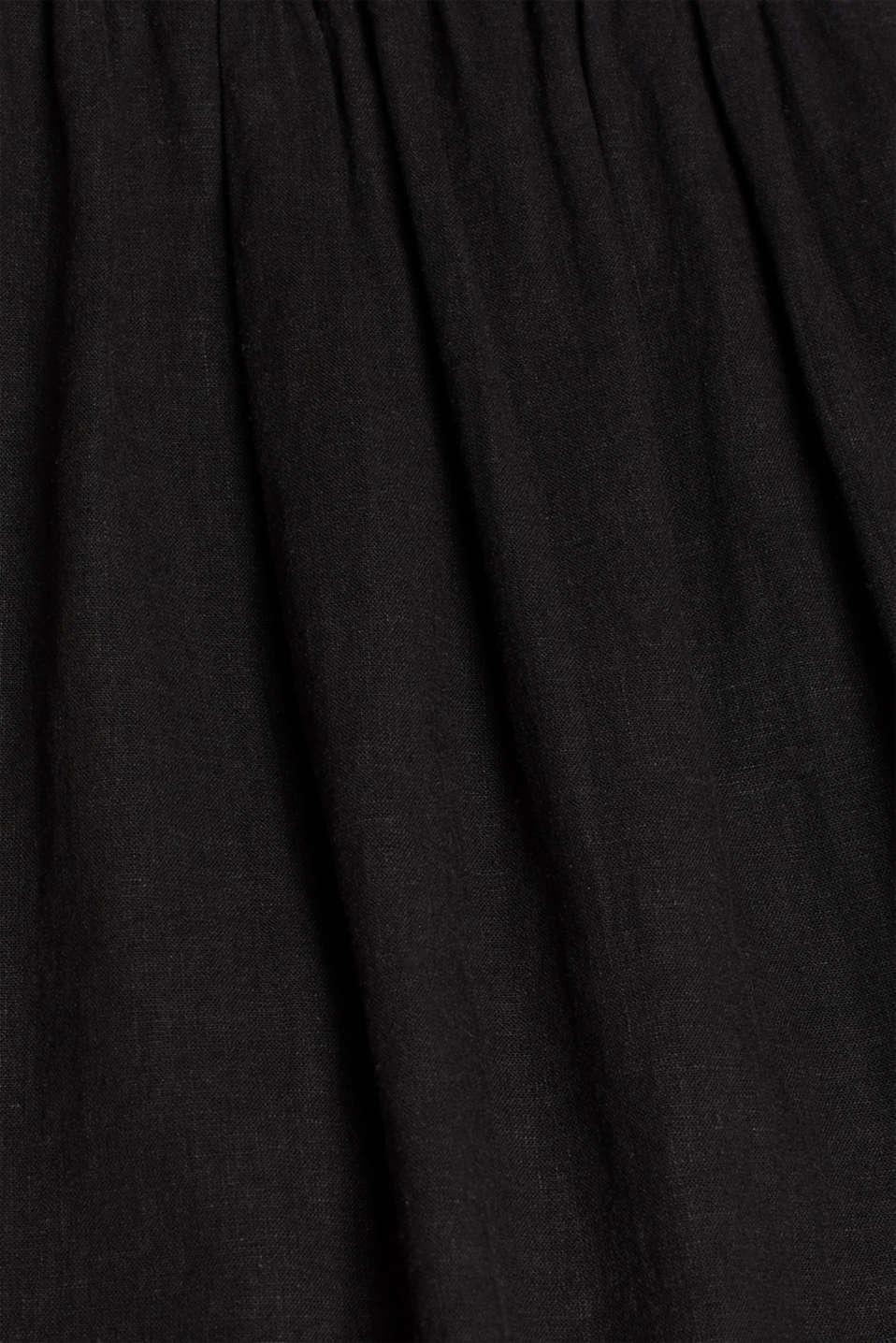 Dresses light woven, BLACK, detail image number 4