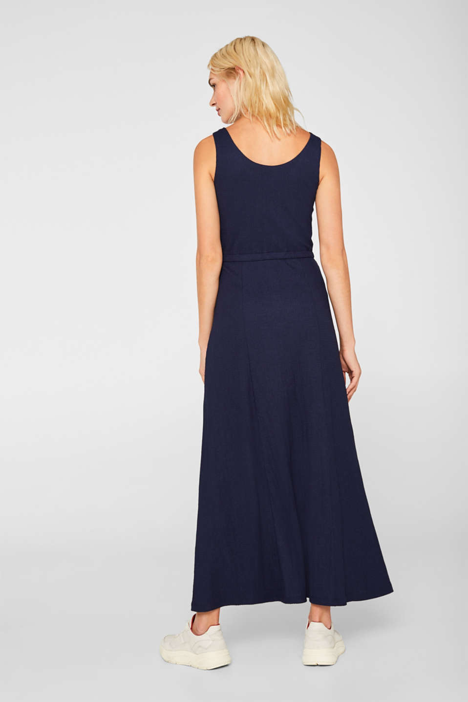 Crinkle look maxi dress, NAVY, detail image number 2