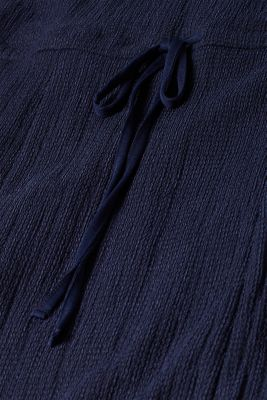 Crinkle look maxi dress, NAVY, detail