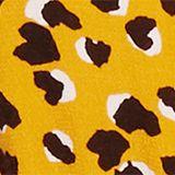 Midi dress with an animal print, HONEY YELLOW, swatch
