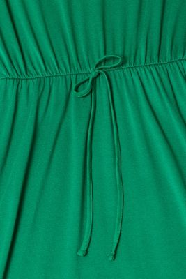 Jersey dress with stretch and lace, GREEN, detail