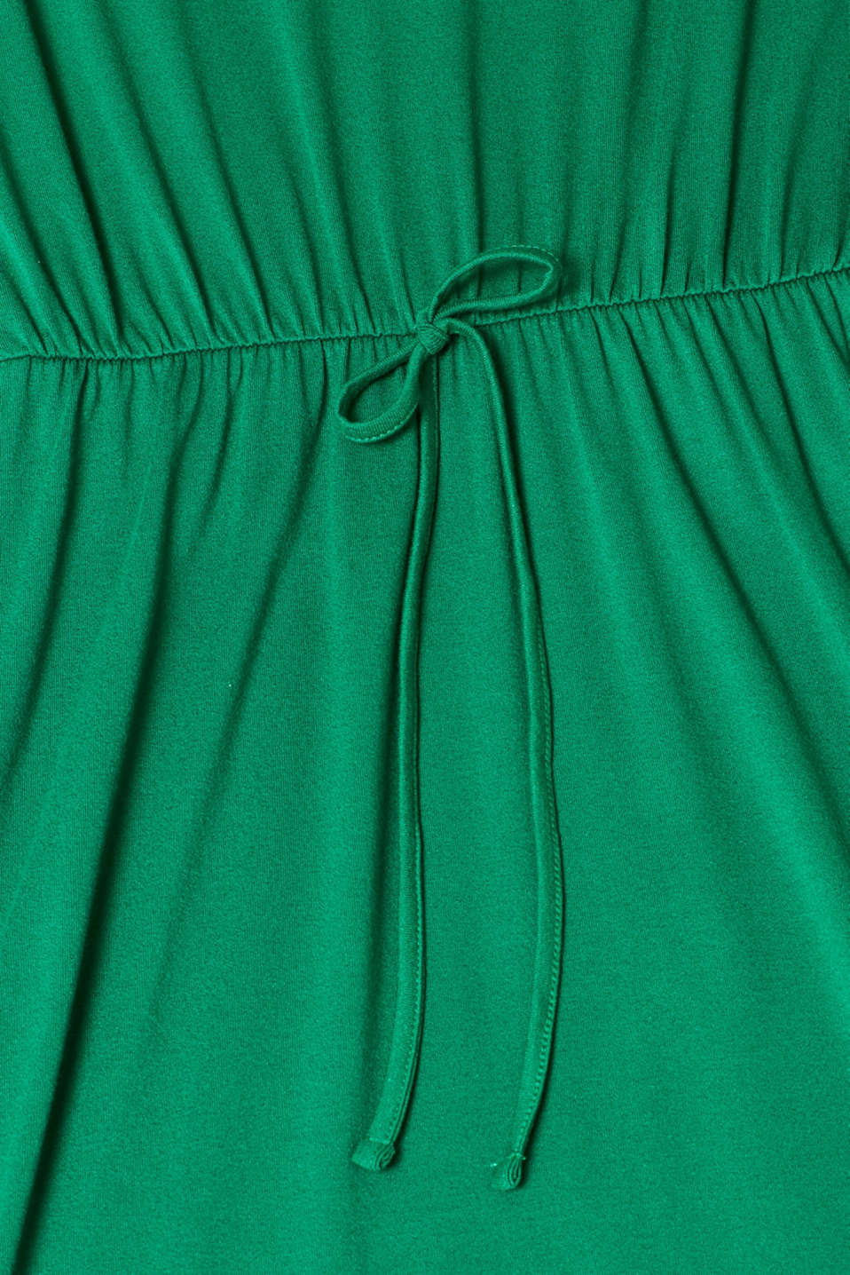 Jersey dress with stretch and lace, GREEN, detail image number 4