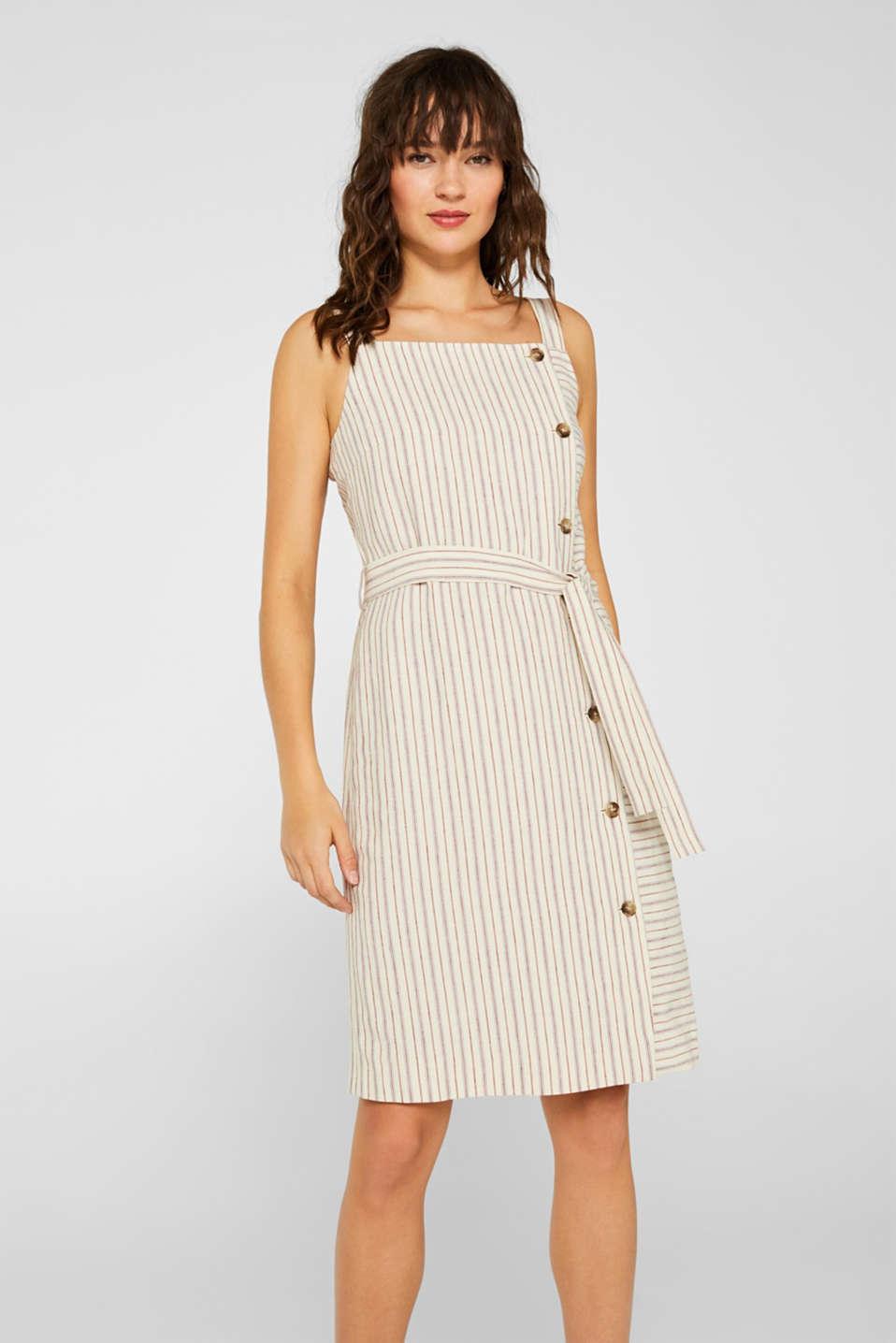 f05bdabb edc - I hørmiks: kjole med stropper og knapstolpe i Esprits Online-Shop