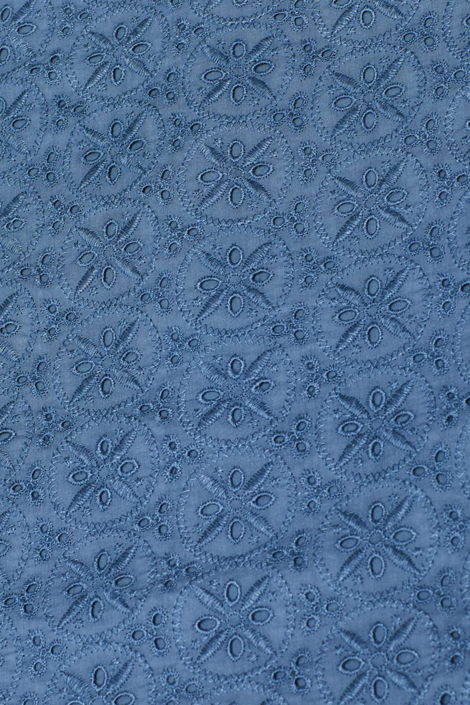 Woven dress with broderie anglaise, GREY BLUE, detail image number 4