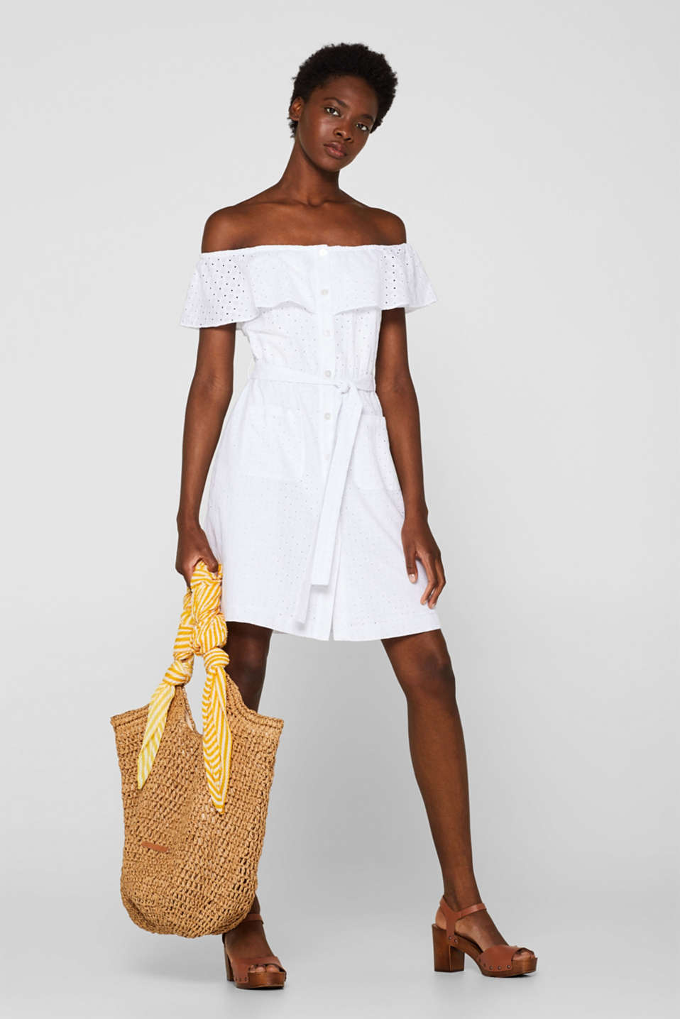 Dresses light woven, WHITE, detail image number 1