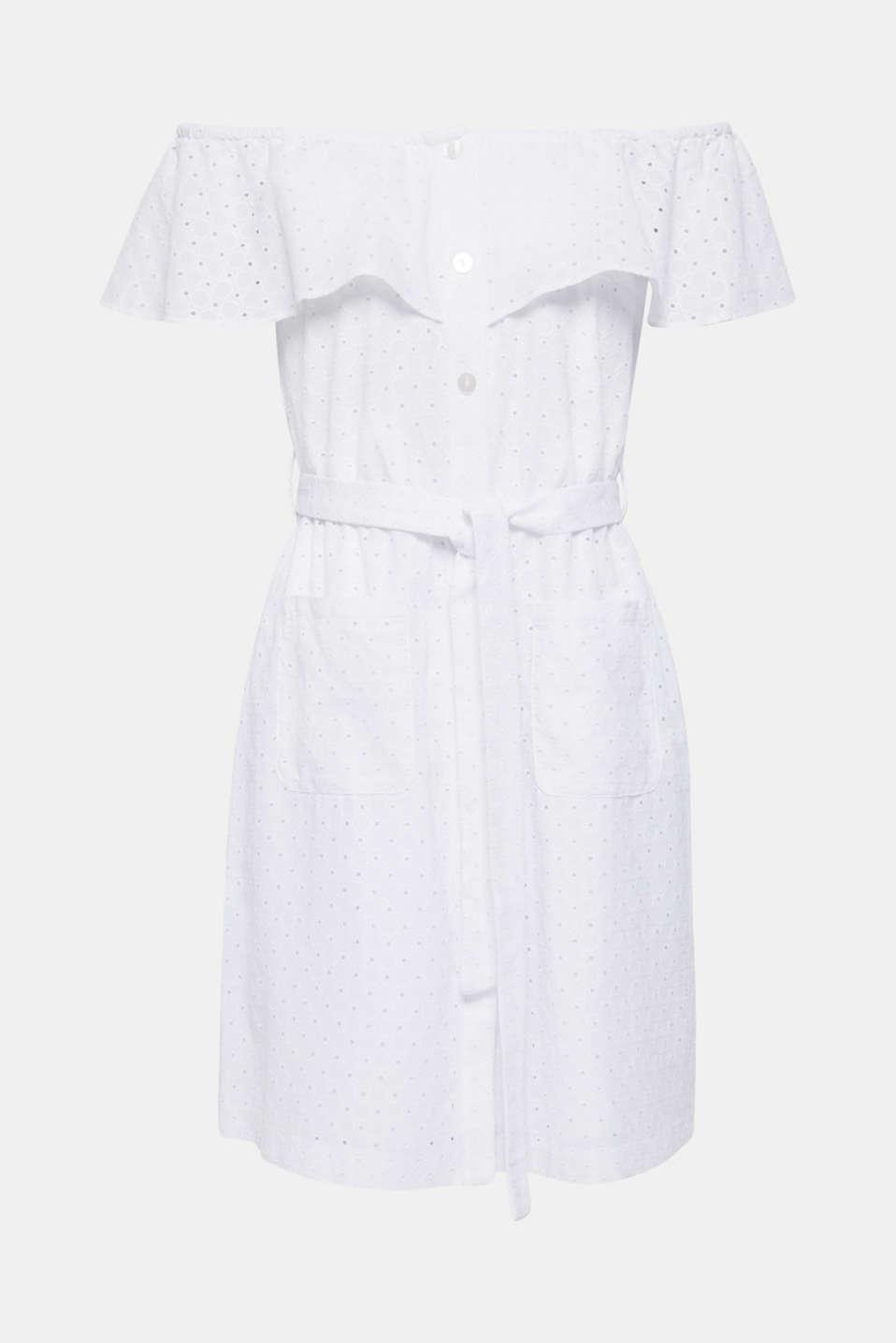 Dresses light woven, WHITE, detail image number 6