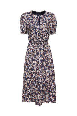 674f3f3a91 Sukienka midi z krepy w nadruk typu łączka249