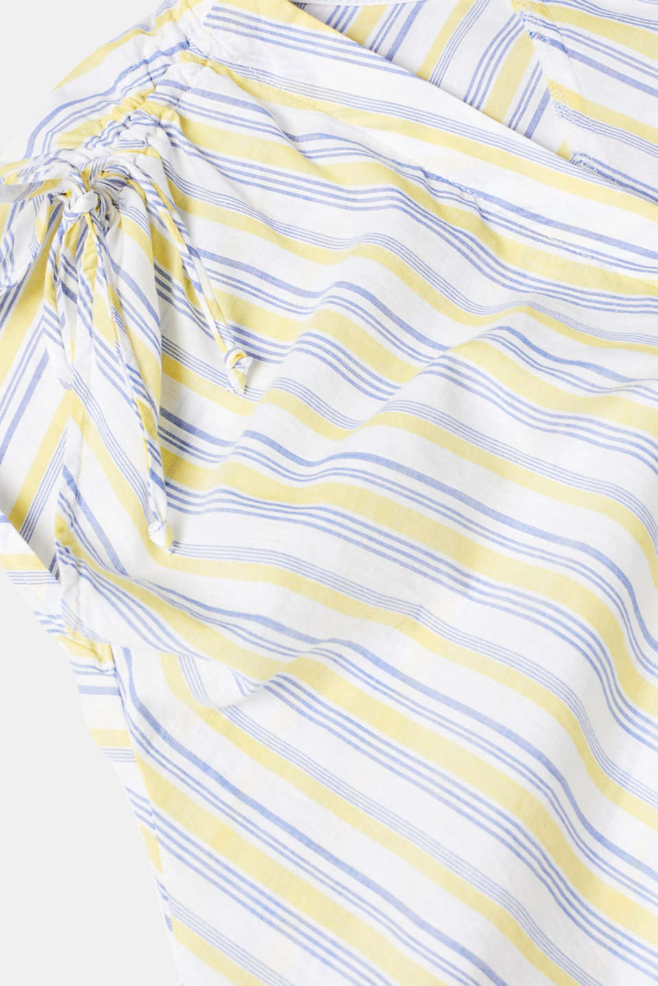 Blouse top with organic cotton, 100% cotton, LIGHT YELLOW, detail image number 4