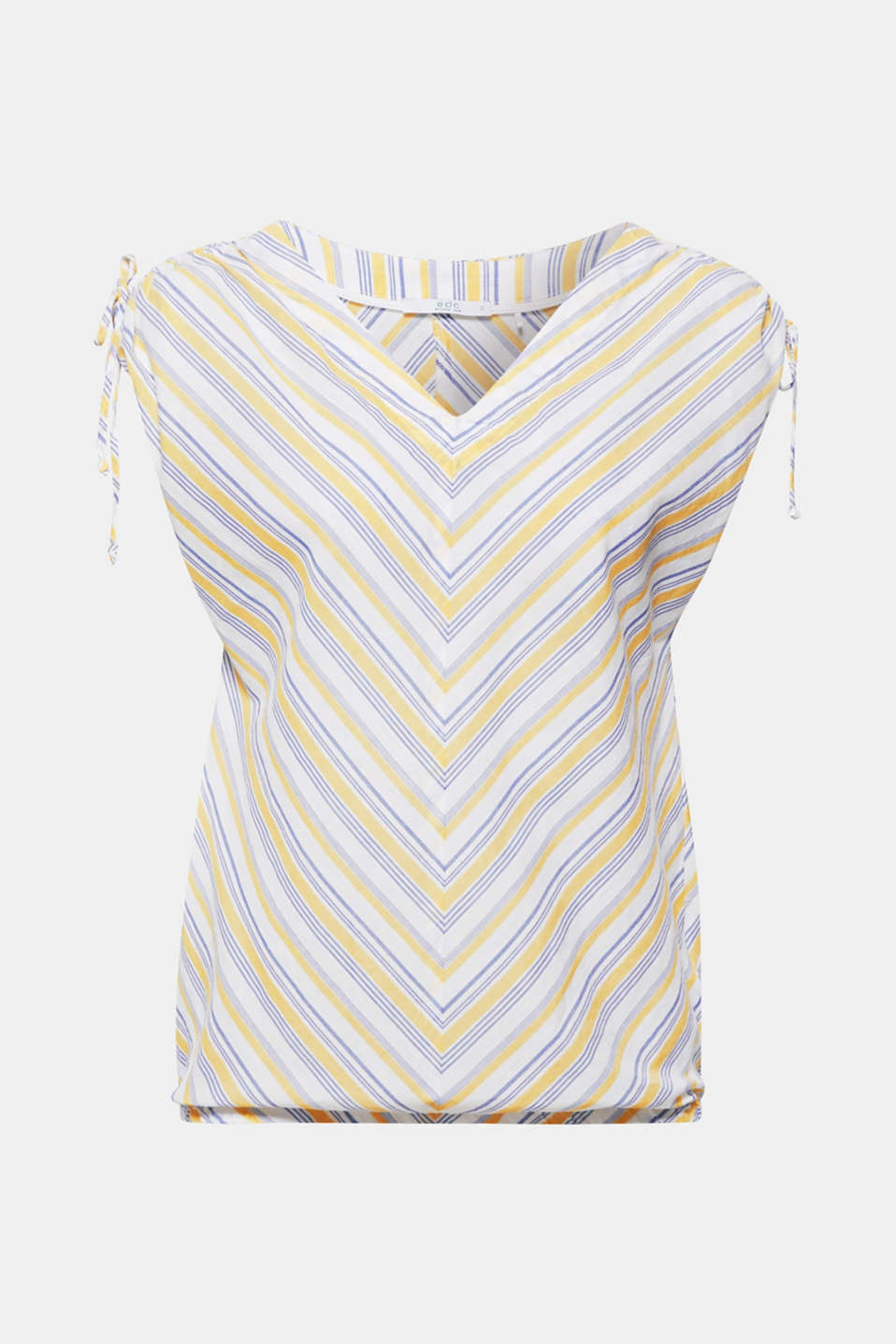 Blouse top with organic cotton, 100% cotton, LIGHT YELLOW, detail image number 8