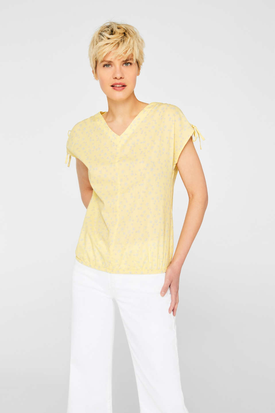 Blouses woven, LIGHT YELLOW, detail image number 0