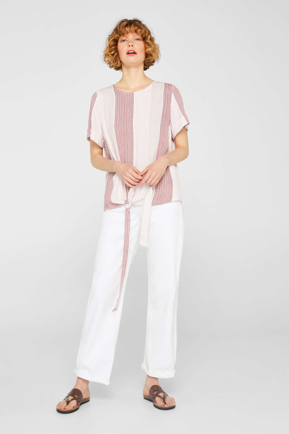edc - Blouse top with a knot detail