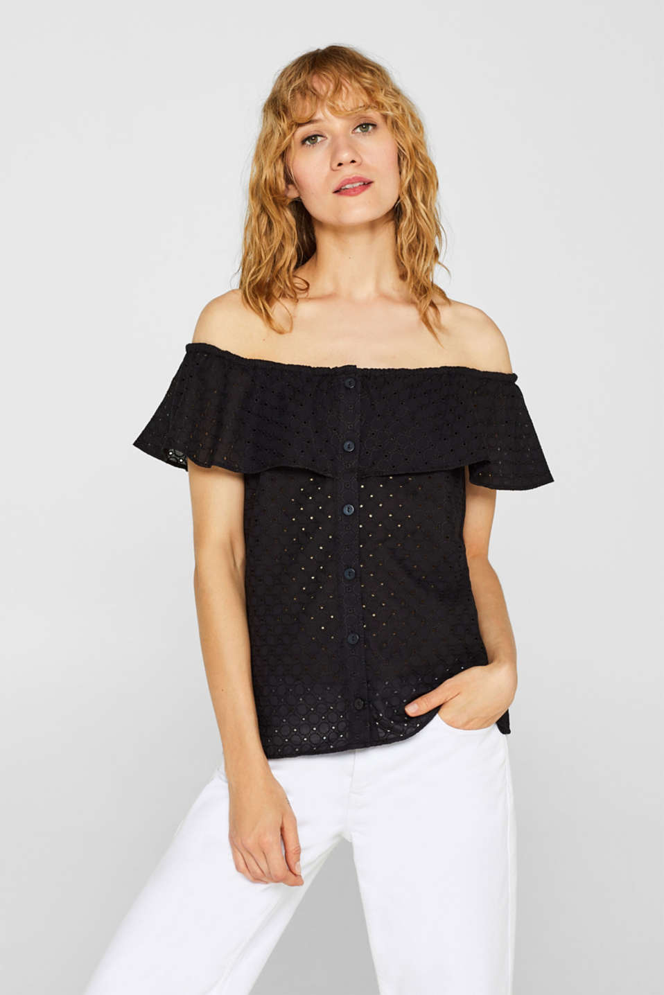 Blouses woven, BLACK, detail image number 0