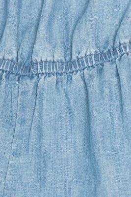 Soft denim jumpsuit, 100% cotton, BLUE LIGHT WASH, detail