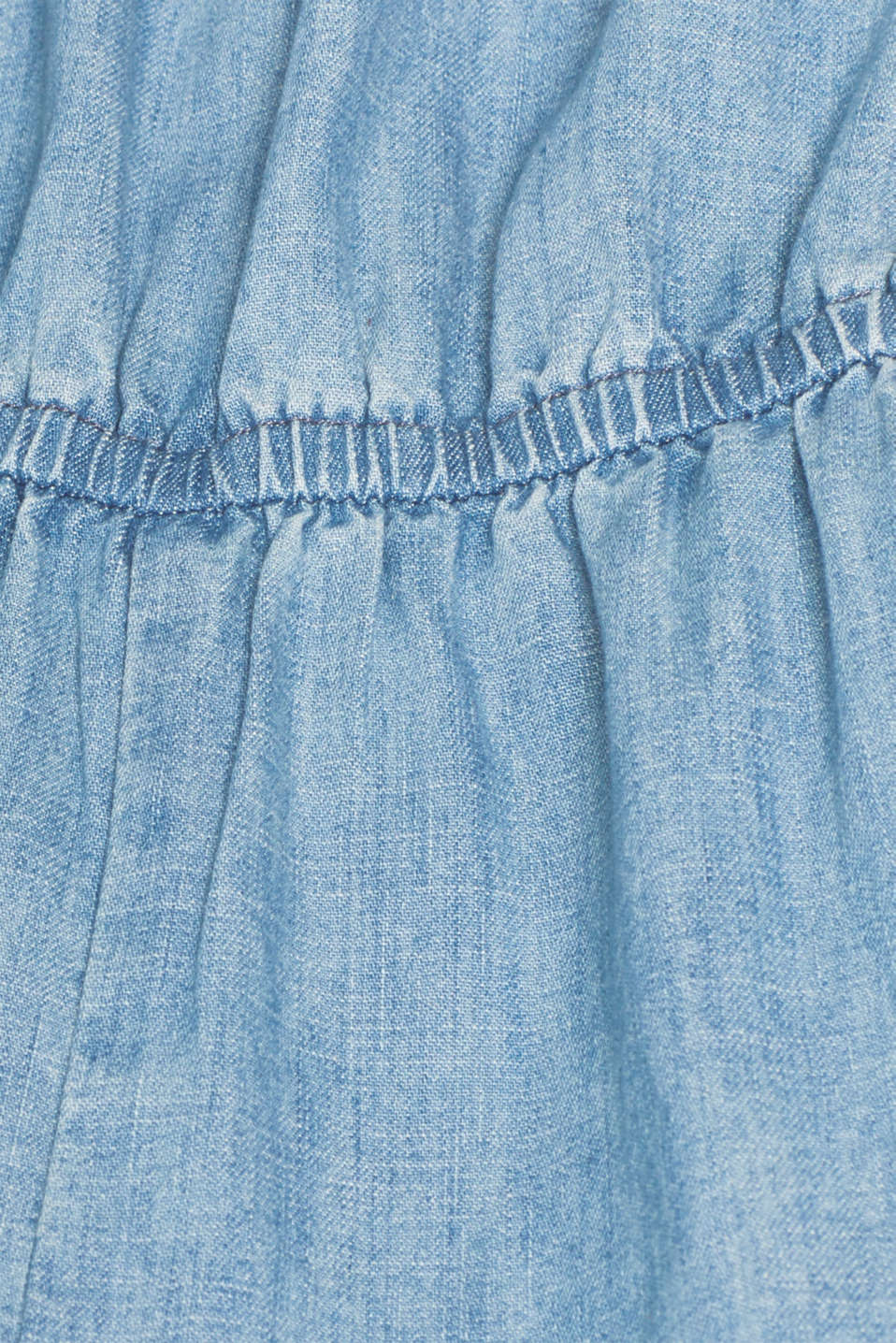 Soft denim jumpsuit, 100% cotton, BLUE LIGHT WASH, detail image number 5
