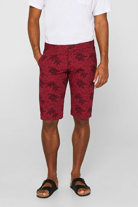 Shorts with tropical prints, 100% cotton