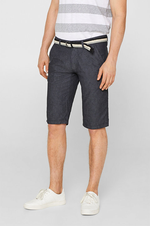 Shorts with herringbone texture, 100% cotton
