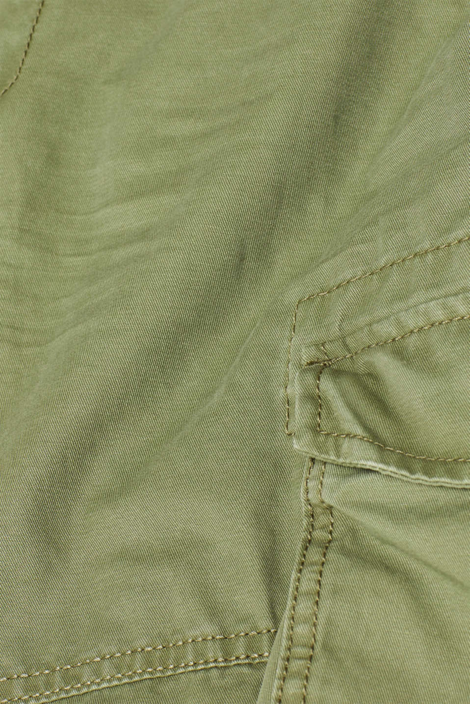 Shorts woven, OLIVE, detail image number 4