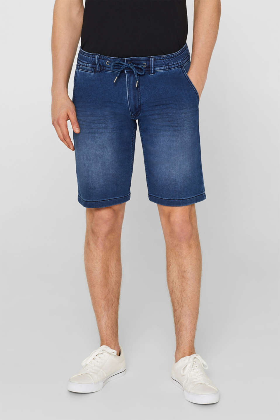 edc - Stretch-Jeansshorts in Jogger-Qualität