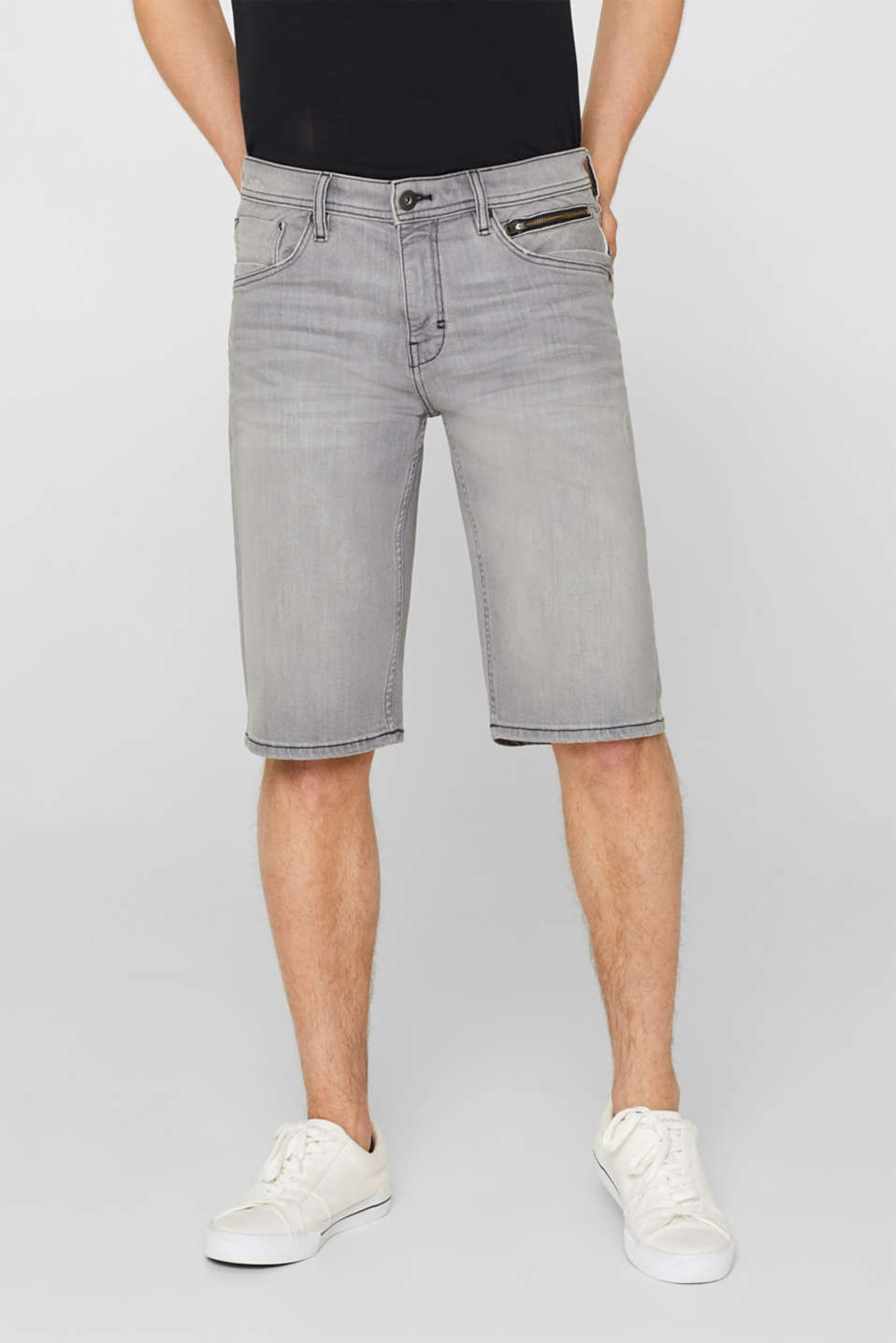 edc - Stretch denim shorts with a vintage finish