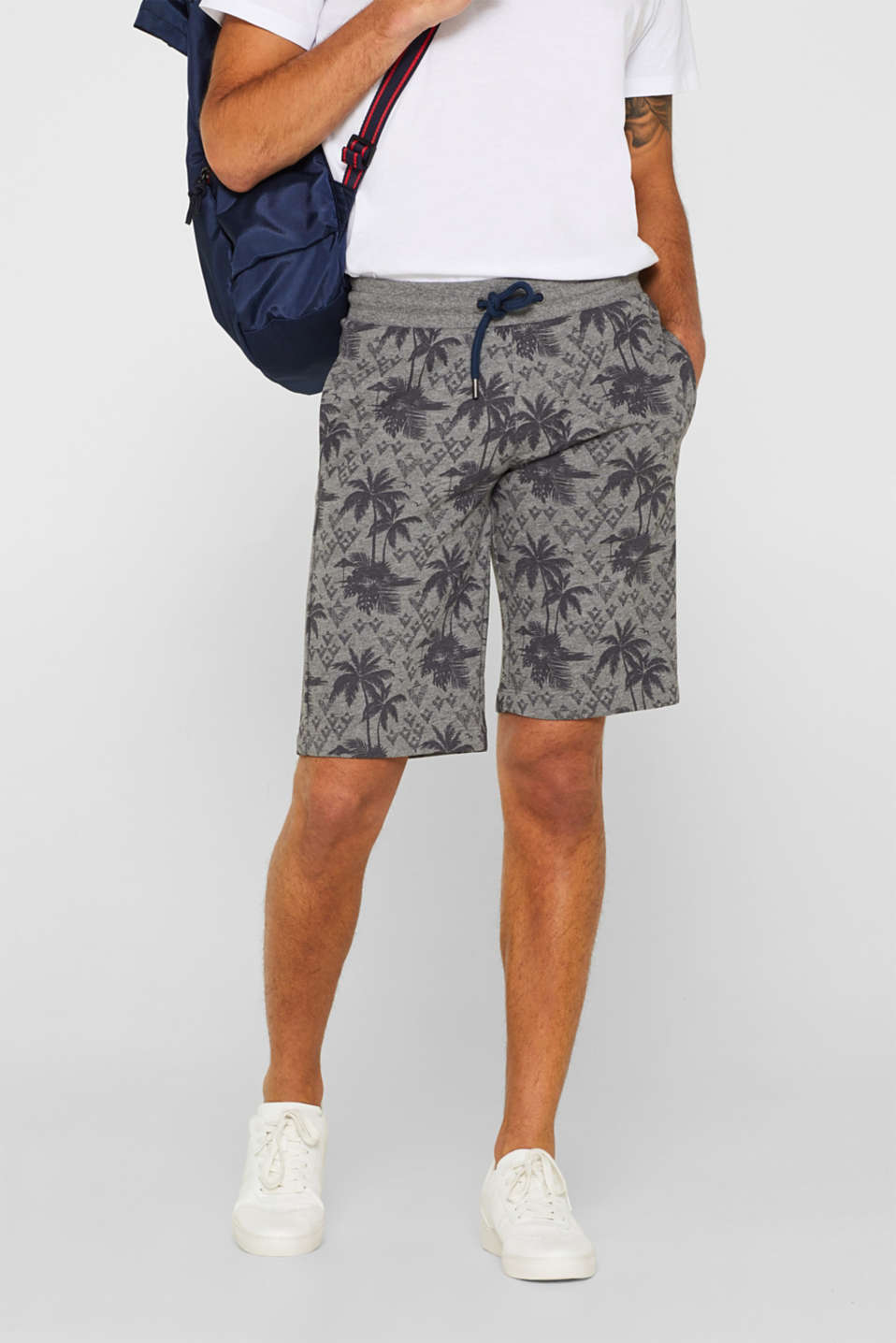 edc - Tracksuit bottoms with a tropical print