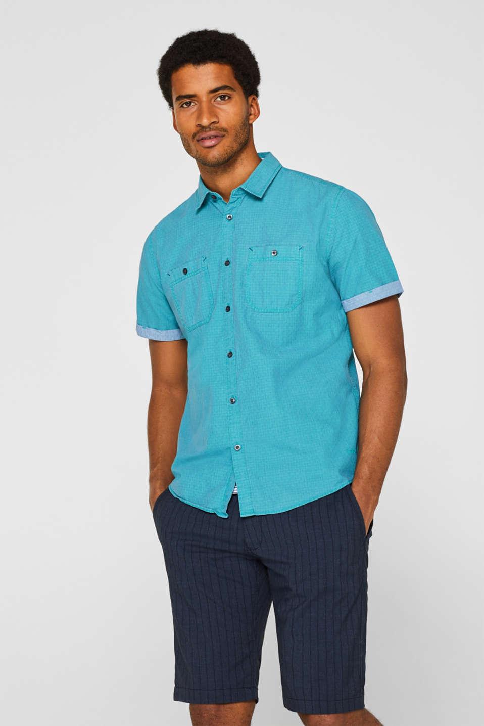 Shirts woven Slim fit, AQUA GREEN, detail image number 0