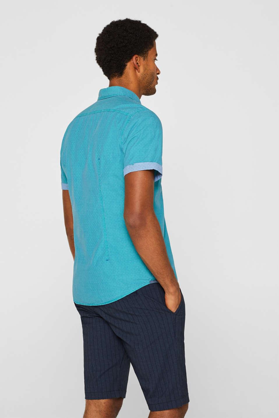 Shirts woven Slim fit, AQUA GREEN, detail image number 3