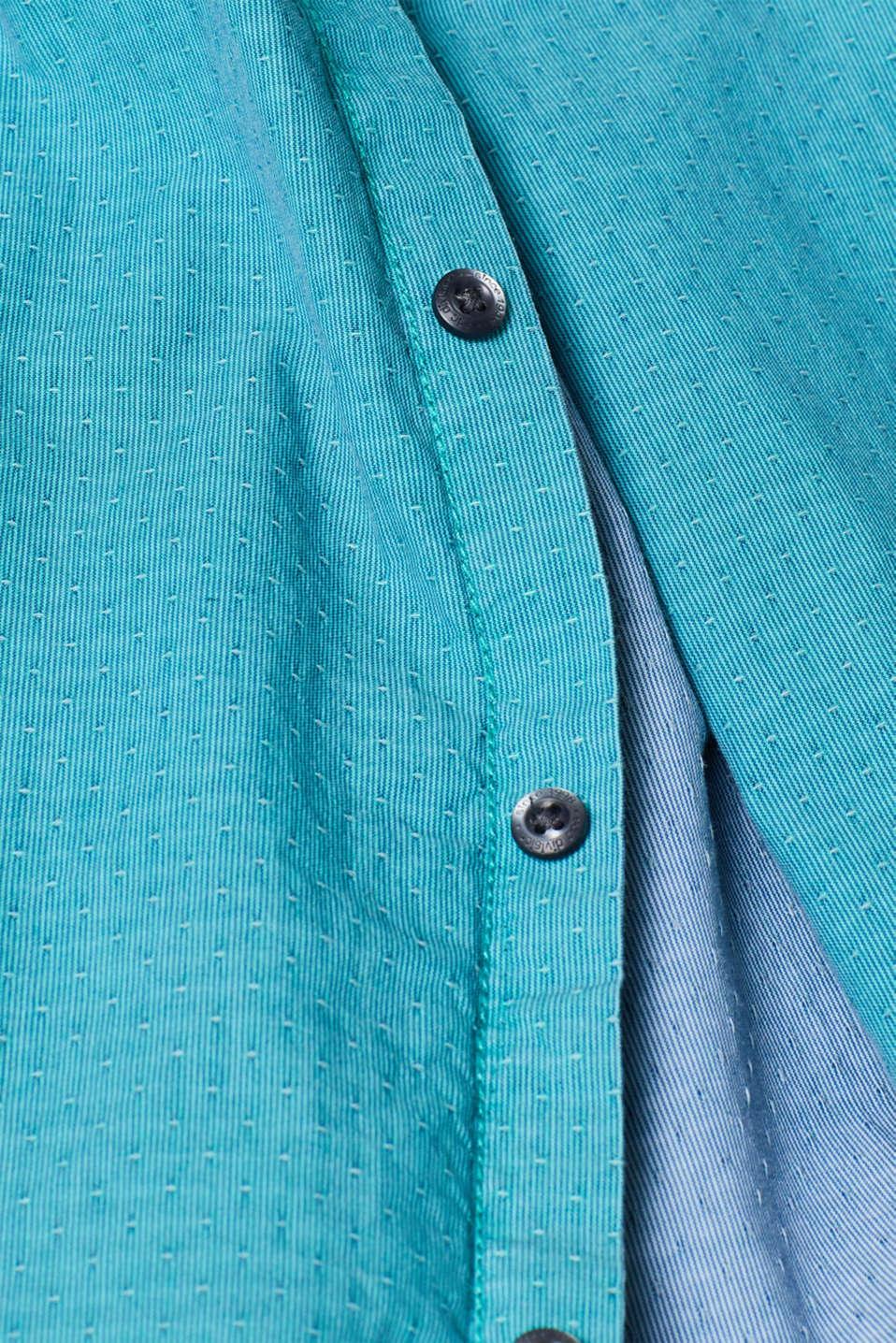 Shirts woven Slim fit, AQUA GREEN, detail image number 4