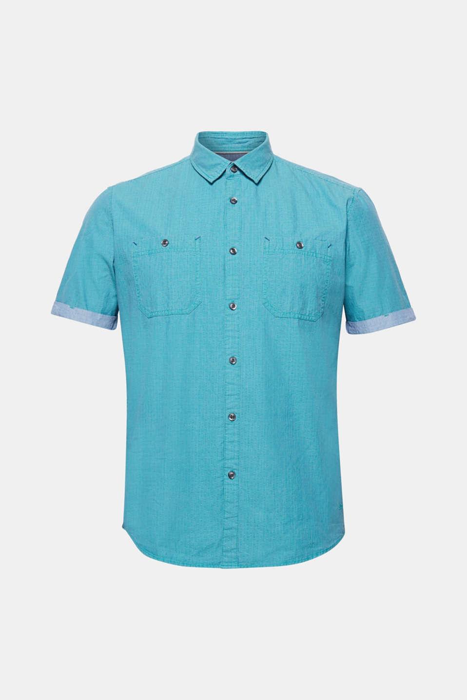 Shirts woven Slim fit, AQUA GREEN, detail image number 6