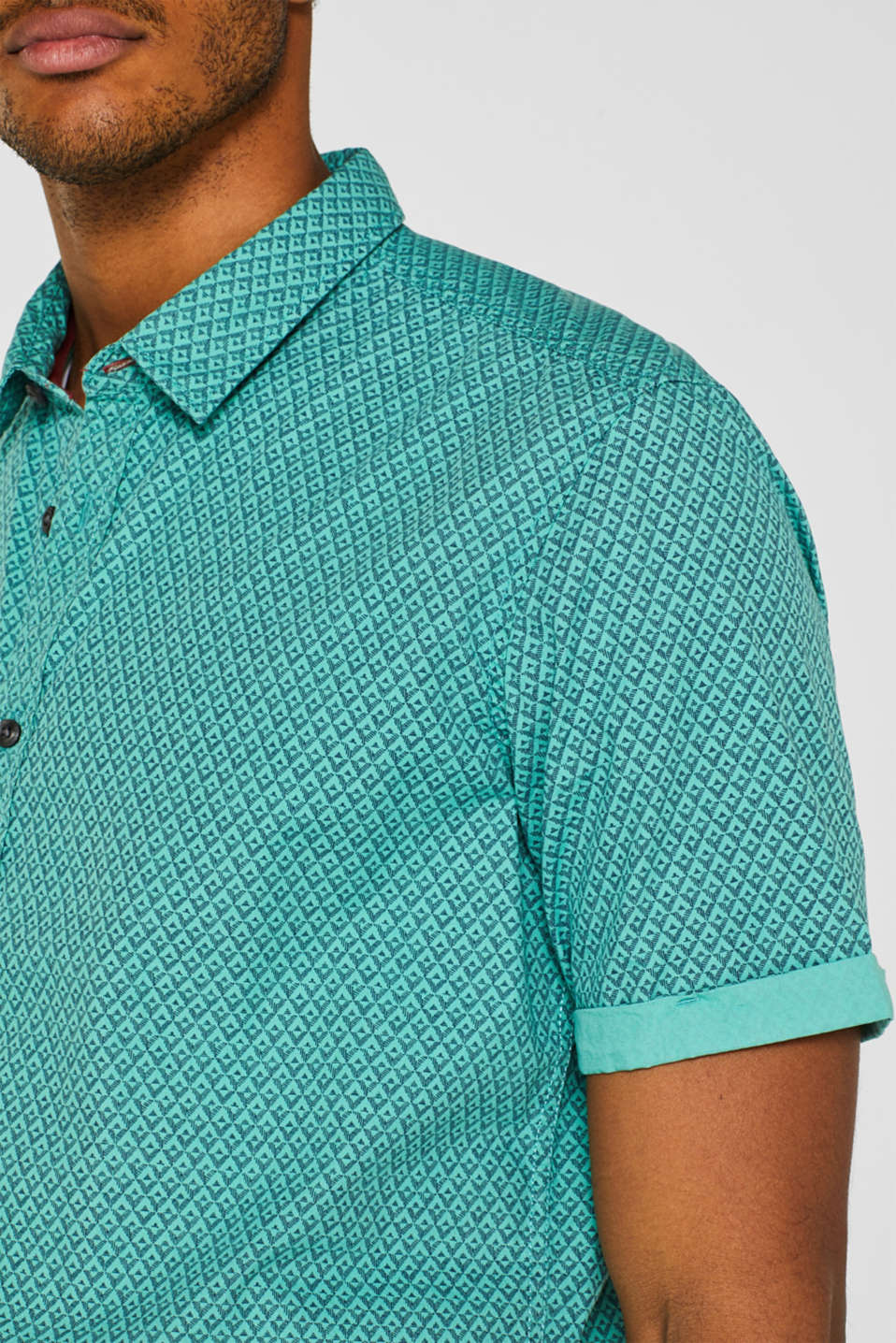 Shirts woven Slim fit, AQUA GREEN, detail image number 2
