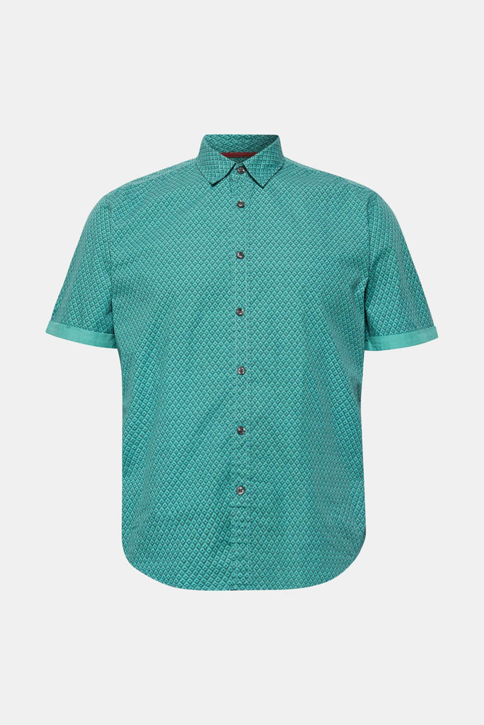Shirts woven Slim fit, AQUA GREEN, detail image number 6