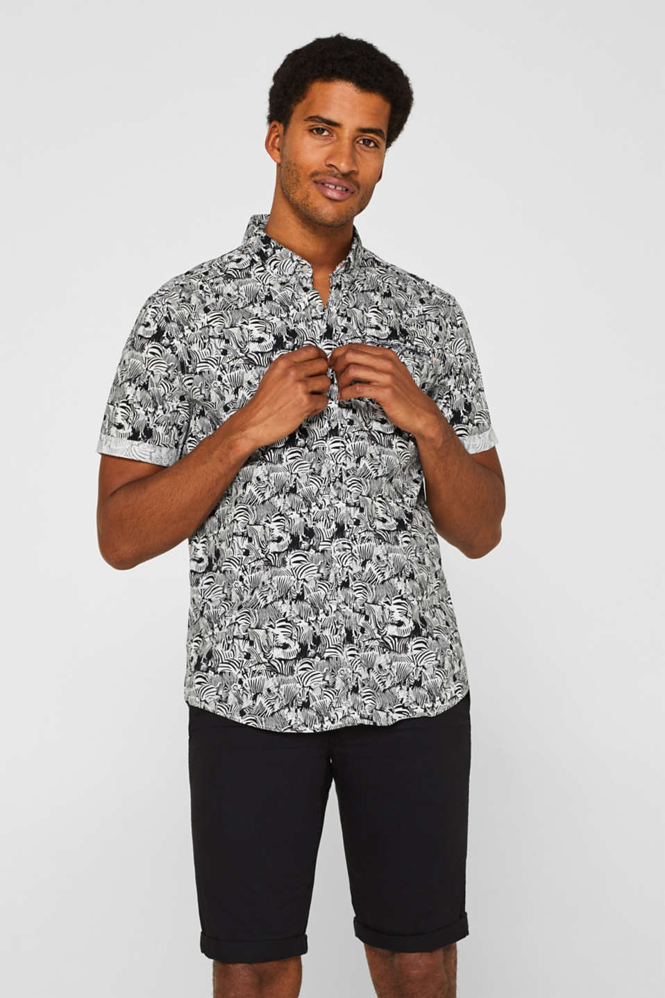 Short sleeve shirt, 100% cotton