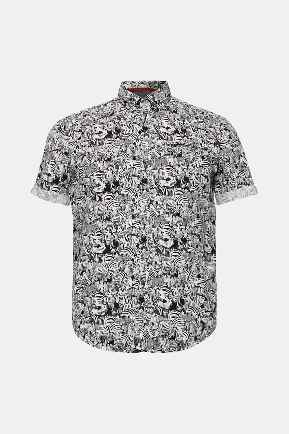 Shirts woven Regular fit, BLACK, detail image number 5