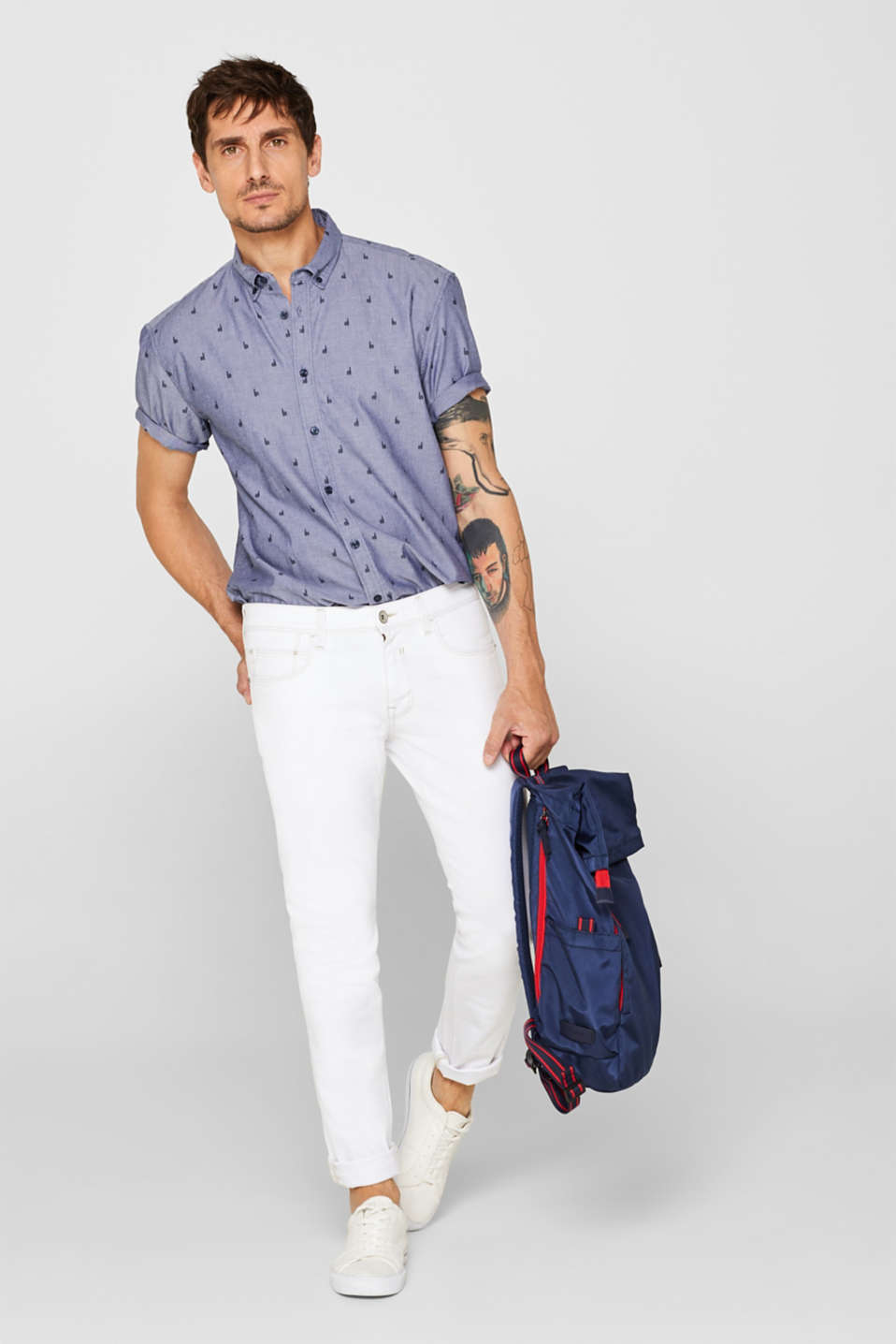 Shirts woven Regular fit, NAVY 2, detail image number 1