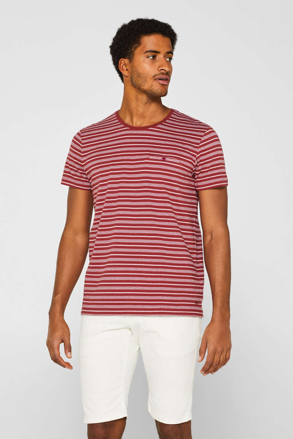 edc - Striped jersey T-shirt in 100% cotton