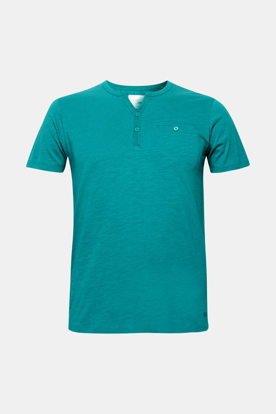 Slub jersey T-shirt in 100% cotton, DUSTY GREEN, detail image number 6