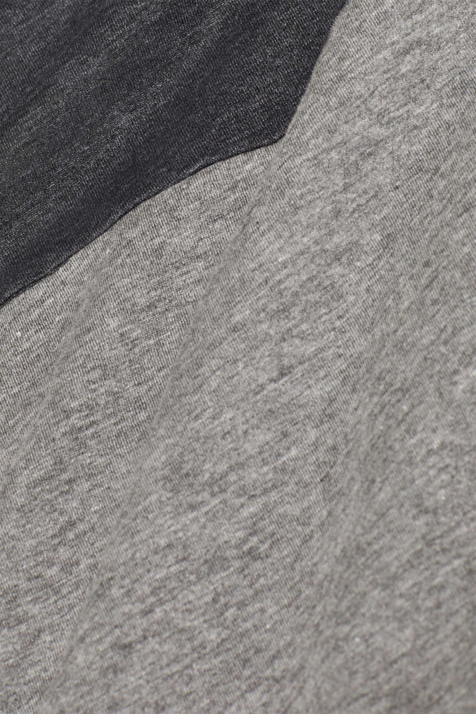Jersey T-shirt with block stripes, MEDIUM GREY, detail image number 5