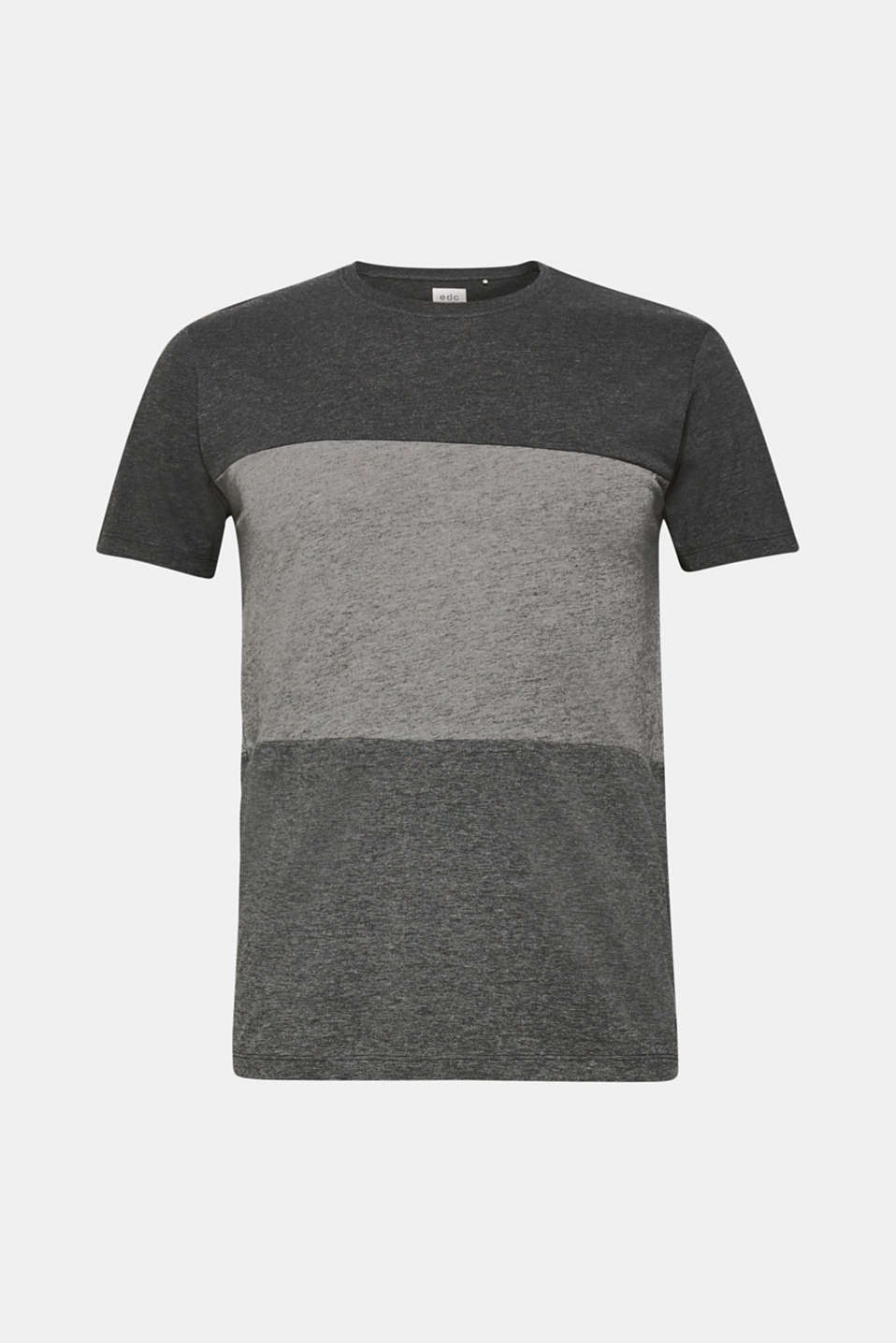 Jersey T-shirt with block stripes, MEDIUM GREY, detail image number 7