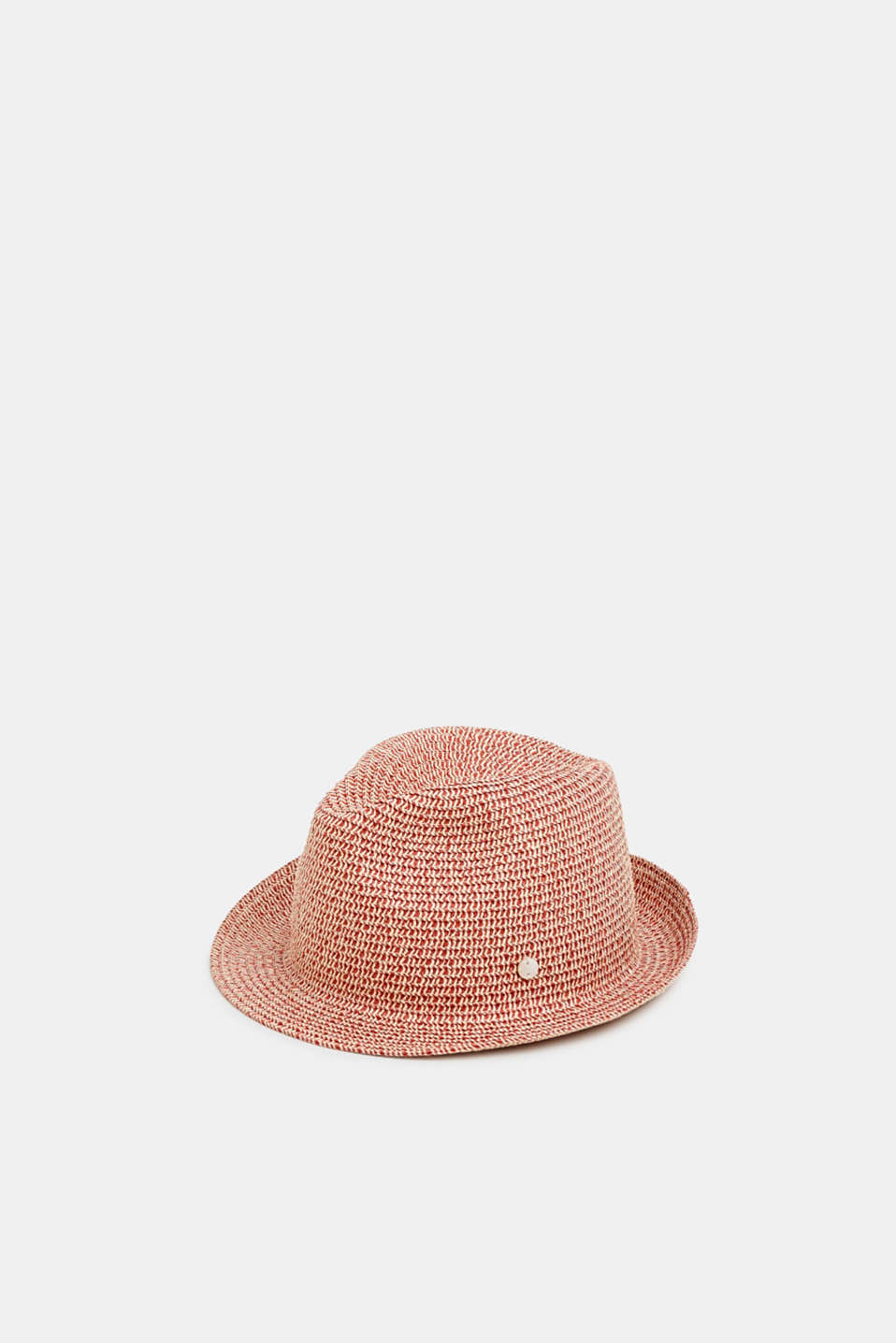 Esprit - Trilby hat made of two-tone, braided straw