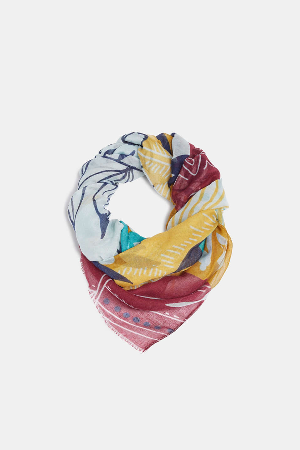 Esprit - Scarf with tropical print