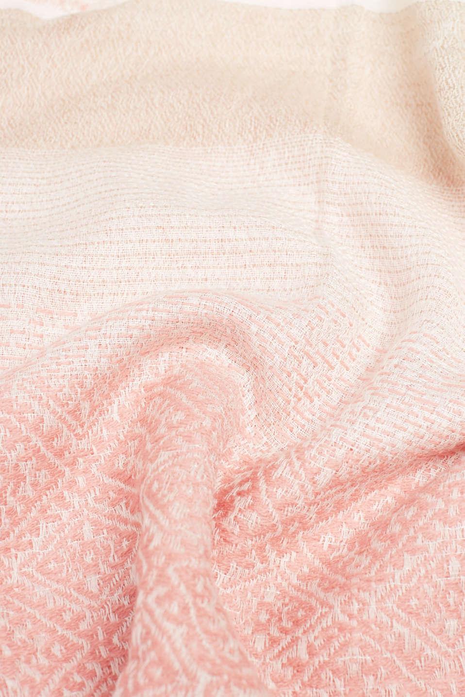 Shawls/Scarves, SALMON, detail image number 2