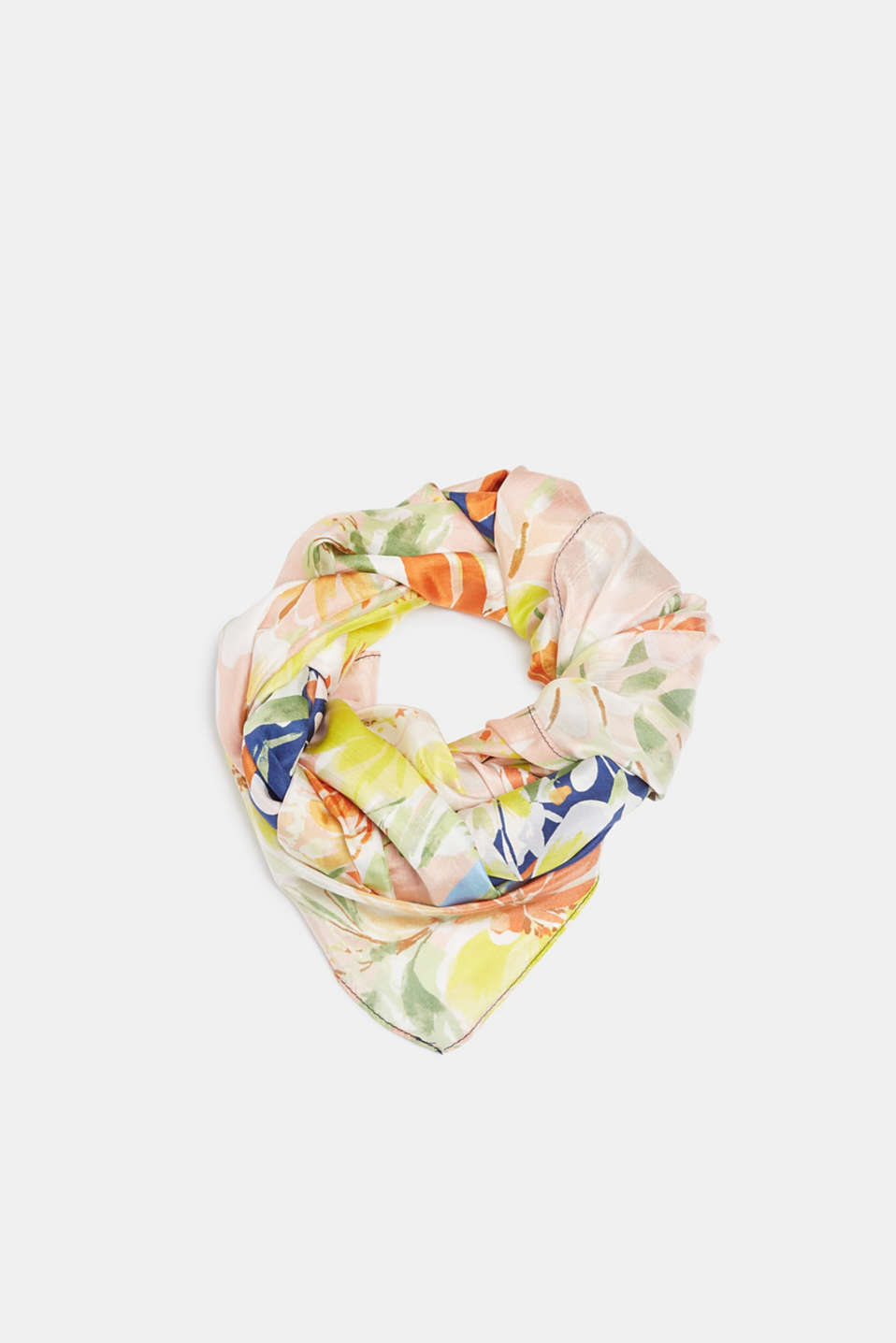Esprit - 100% silk: scarf with floral print