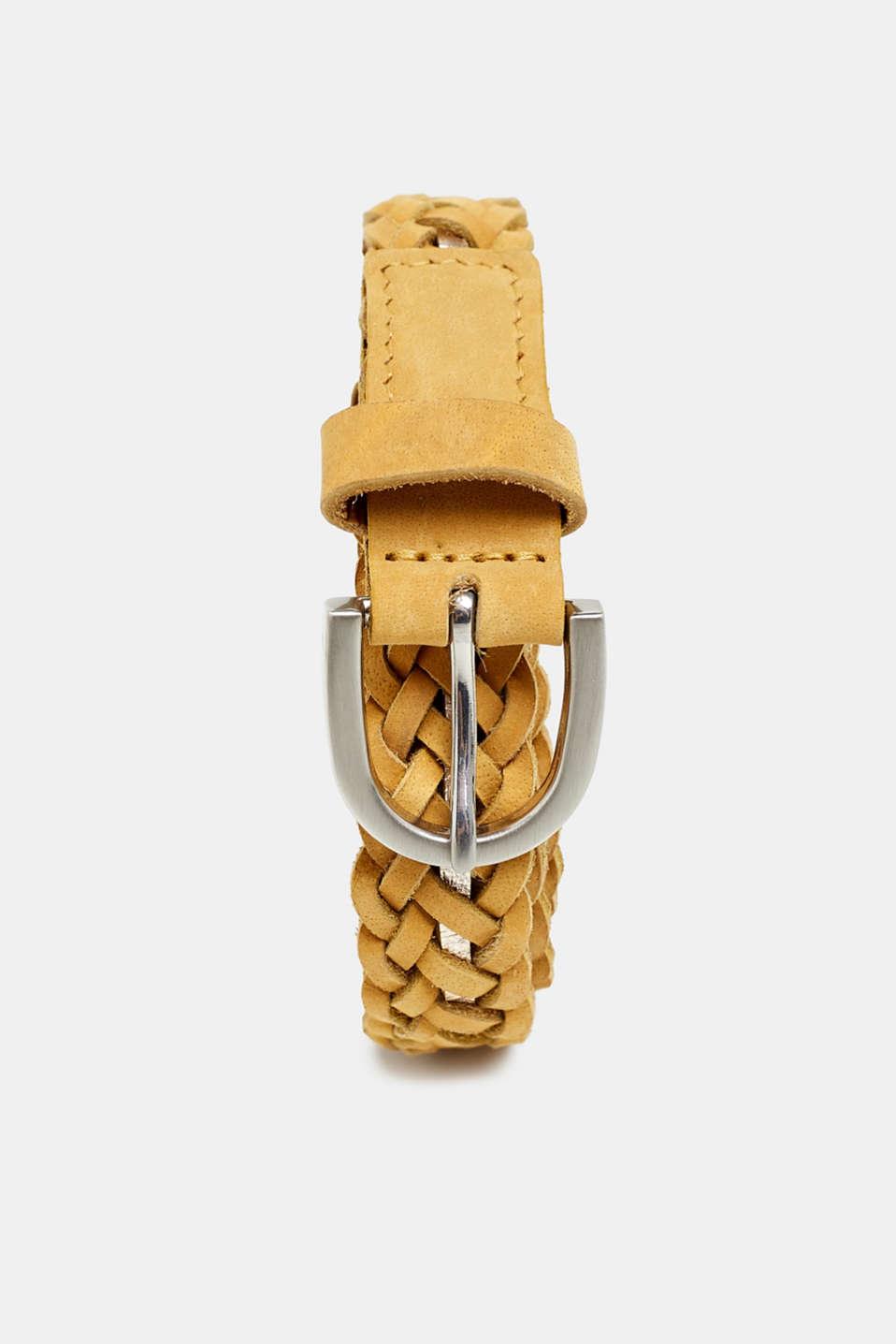 acbe439b8a4307 Esprit - Geflochtener Leder-Gürtel mit Metallic-Akzent im Online ...