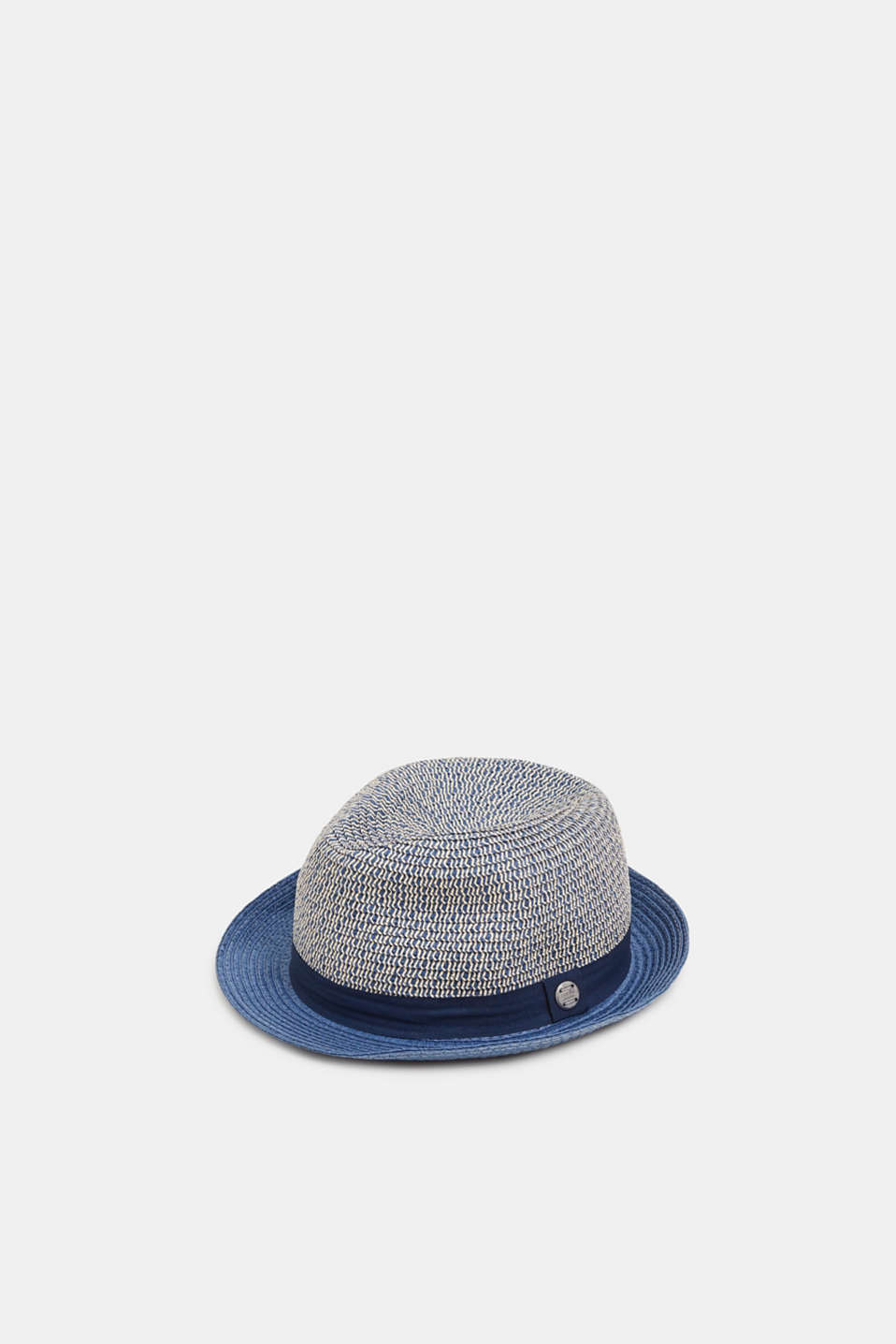 Straw trilby, NAVY, detail image number 0