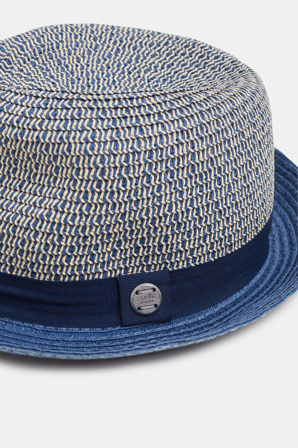Straw trilby, NAVY, detail image number 1