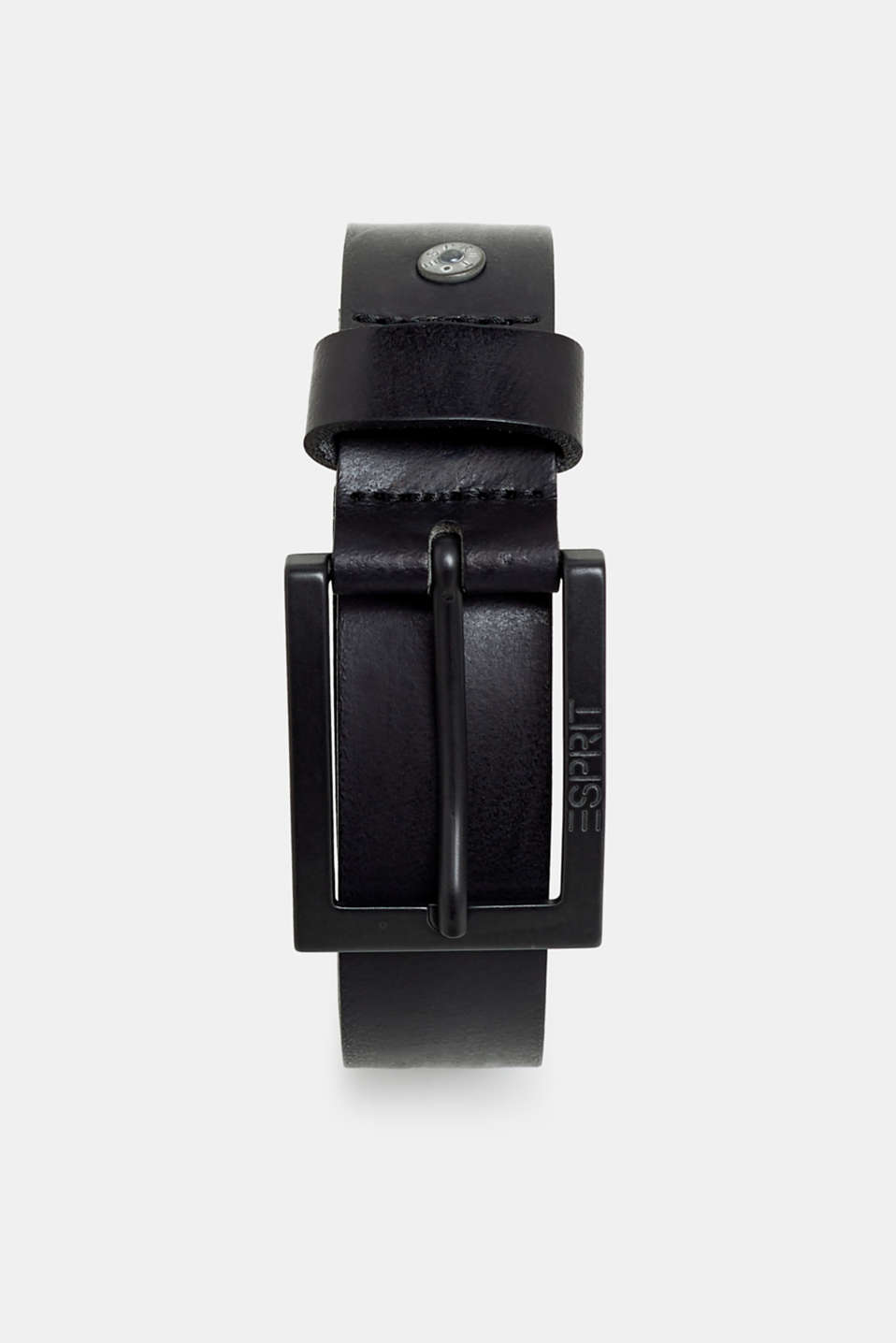Esprit - Leather belt with a gunmetal buckle
