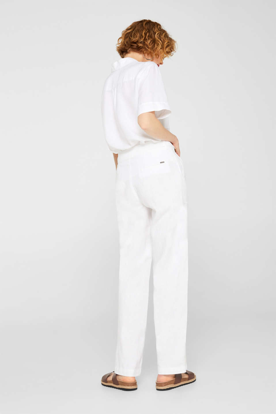 Pants woven, WHITE, detail image number 3