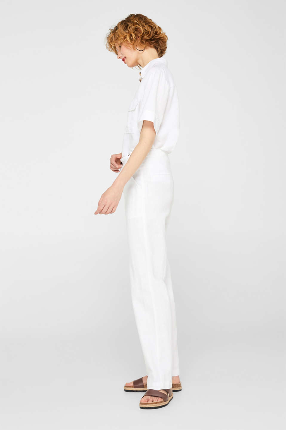 Pants woven, WHITE, detail image number 1